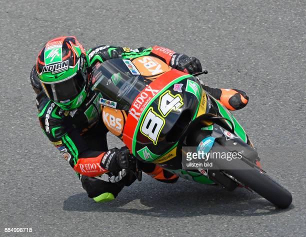 Moto3 Fahrer Jakub Kornfeil Tschechien Honda waehrend der Qualifikation beim MotoGP auf dem Sachsenring in HohensteinErnstthal Deutschland...