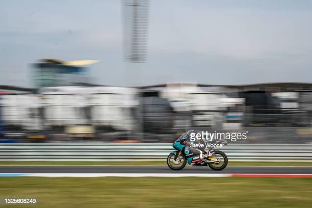 Moto3 rider John Mcphee of Great Britain and Petronas Sprinta Racing rides during the MotoGP qualifying session at TT Circuit Assen on June 26, 2021...