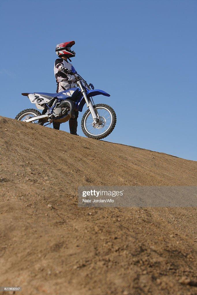 Motocross Biker : Stock Photo