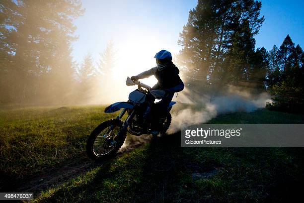 motocross dirt bike trail rider - scrambling stock pictures, royalty-free photos & images