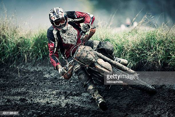motocross rider - scrambling stock photos and pictures