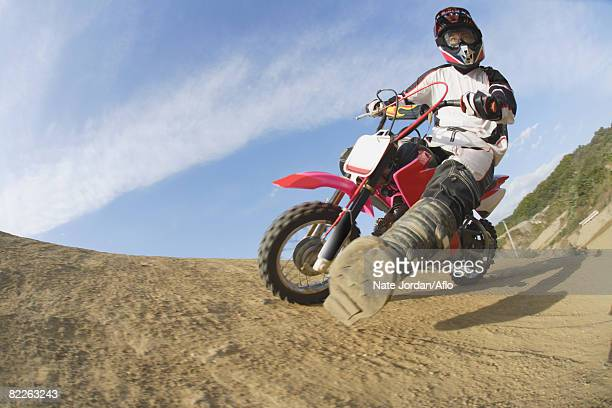 Motocross Rider Turning