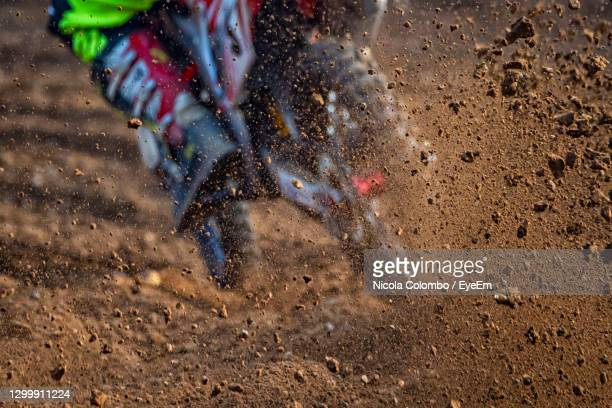 motocross scene on a trail - motorsport stock pictures, royalty-free photos & images