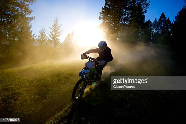 motocross trail rider - scrambling stock photos and pictures