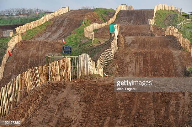motocross venue, jersey. - scrambling stock photos and pictures