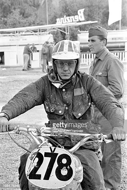 Motocross World Championship Steve Mac Queen To Participate In The Six Days Of Erfurt Erfurt Allemagne de l'Est septembre 1964 Championnat du monde...