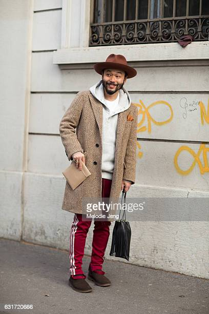 Motofumi 'Poggy' Kogi of United Arrows during Milan Men's Fashion Week Fall/Winter 2017/18 on January 14 2017 in Milan Italy