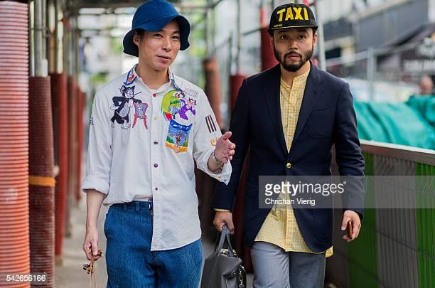 Motofumi 'Poggy' Kogi outside Yohji Yamamoto during the Paris Fashion Week Menswear Spring/Summer 2017 on June 23 2016 in Paris France