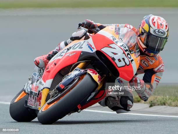 MotoGP Fahrer Dani Pedrosa Spanien Honda waehrend des Trainings beim MotoGP auf dem Sachsenring in HohensteinErnstthal Deutschland Deutschland...