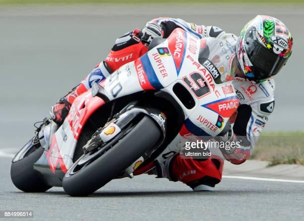 MotoGP Fahrer Danilo Petrucci Italien Ducati waehrend des Trainings beim MotoGP auf dem Sachsenring in HohensteinErnstthal Deutschland Deutschland...