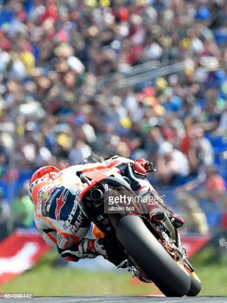 MotoGP Fahrer Marc Marquez Spanien Honda waehrend der Qualifikation beim MotoGP auf dem Sachsenring in HohensteinErnstthal Deutschland Deutschland...