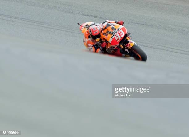 MotoGP Fahrer Marc Marquez Spanien Honda waehrend des Trainings beim MotoGP auf dem Sachsenring in HohensteinErnstthal Deutschland Deutschland...