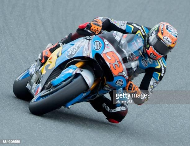 MotoGP Fahrer Tito Rabat Spanien Honda waehrend des Trainings beim MotoGP auf dem Sachsenring in HohensteinErnstthal Deutschland Deutschland Germany...