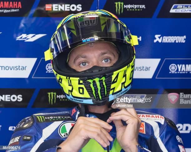 MotoGP Fahrer Valentino Rossi Italien Yamaha waehrend des Trainings beim MotoGP auf dem Sachsenring in HohensteinErnstthal Deutschland Deutschland...