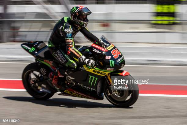 MotoGP Jonas Folger Monster Yamaha Tech 3 Team during the MotoGp training in racetrack of Catalunya in BarcelonaCatalunya Circuit Barcelona on 12th...