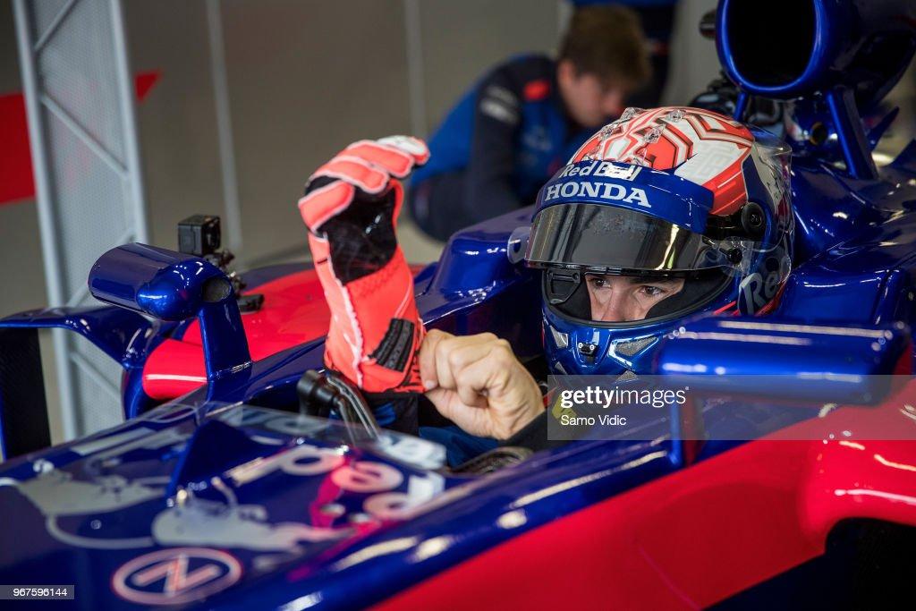 MotoGP rider Marc Marquez of Spain and Repsol Honda during F1 testing on June 5, 2018 in Spielberg, Austria.