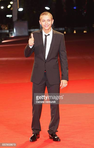 MotoGP rider Valentino Rossi attends the Yuppi Du film premiere at the Sala Grande during the 65th Venice Film Festival on September 4 2008 in Venice...
