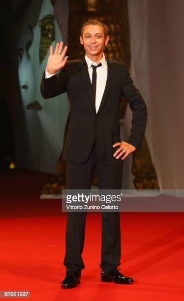 MotoGP rider Valentino Rossi attends the Yuppi Du premiere at the Sala Grande during the 65th Venice Film Festival on September 4 2008 in Venice Italy