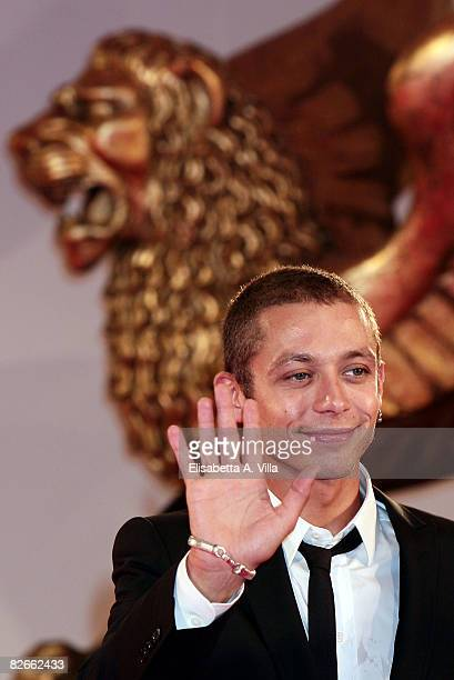 MotoGP rider Valentino Rossi attends the 'Yuppi Du' premiere during the 65th Venice Film Festival on September 4 2008 in Venice Italy