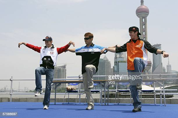 MotoGP riders Casey Stoner of Honda LCR and Australia 250cc rider Andrea Dovizioso of Humangest Racing Team and Italy and Makoto Tamada of Konica...