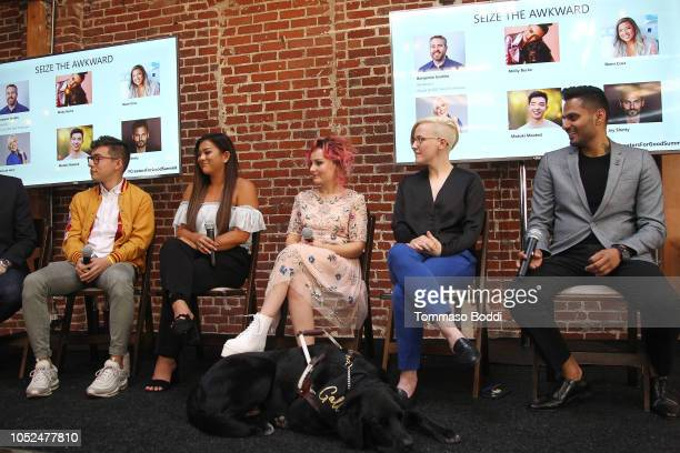 Motoki Maxted Remi Cruz Molly Burke Hannah Hart attend the Using Your Voice For Social Change Mental Health And Suicide Prevention at The Jefferson...