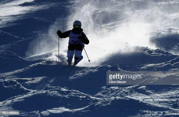 Motoki Shikata of Japan in action during Mens Moguls training at the FIS Freestyle Ski World Cup 2016/17 Aerials at Bokwang Snow Park on February 10...