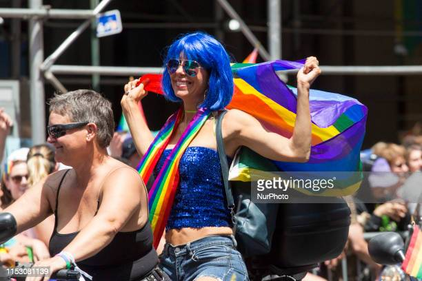 Motor bike riders drive through the annual Pride Parade on Sunday, June 29, 2019 in New York, NY. This years annual Pride Parade celebrates the 50th...