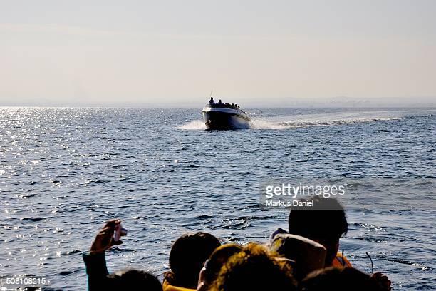 """motor boats with tourists in paracas, peru - """"markus daniel"""" stockfoto's en -beelden"""
