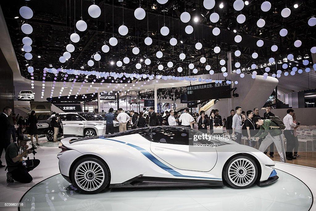 Inside The Beijing International Automotive Exhibition : News Photo