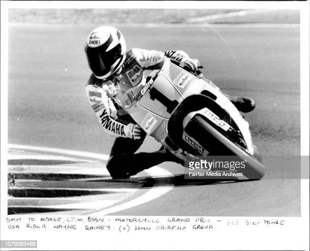 Motor Cycle Grand Prix USA Rider Wayne Rainey
