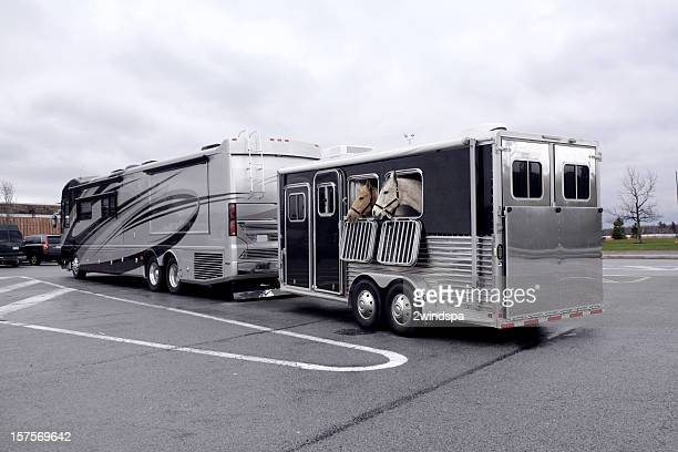 Motor Home and Horse Trailer