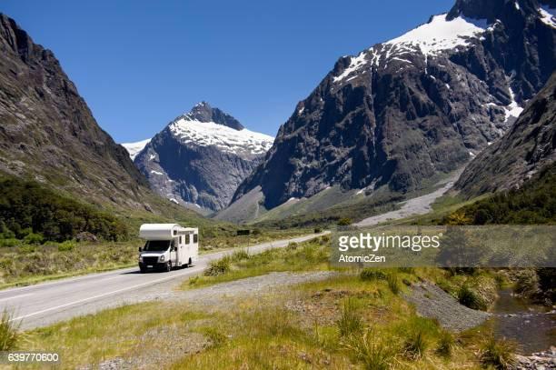 Motor home in New Zealand