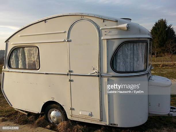 motor home on field - sabine hauswirth stock pictures, royalty-free photos & images