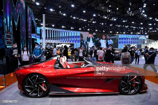 Motor MG Cyberster concept electric sports car is on display during the 19th Shanghai International Automobile Industry Exhibition, also known as...
