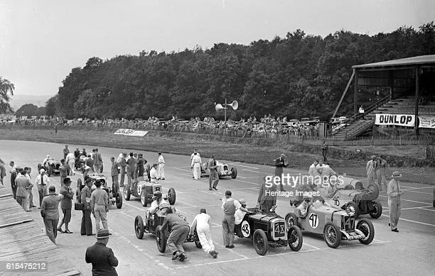 Motor race at Donington Park, Leicestershire, 1936. MG 1932 747 cc. Vehicle Reg. No. GX9693. Event Entry No: 47. Chassis No. C0287. Centre Austin...