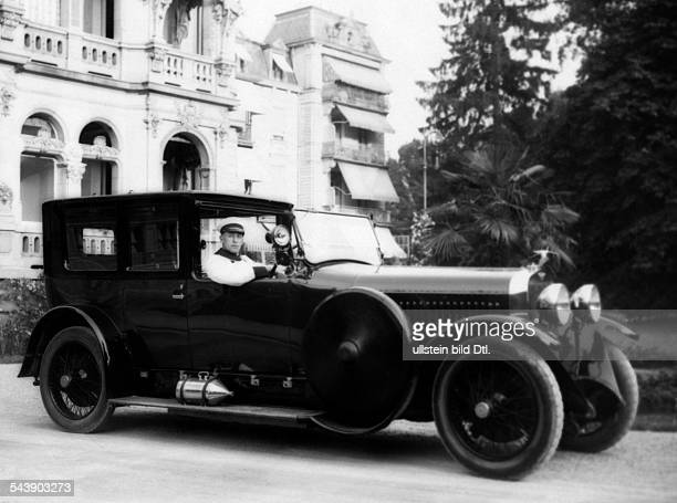Motor race in BadenBaden Hispano Suiza car of the Direktor Glasmacher Photographer Atelier Binder Published by 'Die Dame' 23/1923Vintage property of...