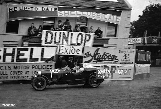 Motor Racing Belfast Northern Ireland 24th August Italian driver T Nuvolari on his way to winning the International Tourist Trophy race at Aards in...