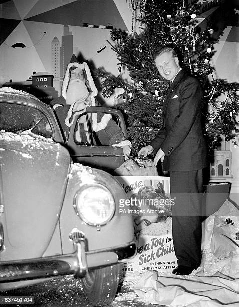 Motor racing driver Mike Hawthorn opens the appeal with a bit of help from a familiar character in a Volkswagen Beetle