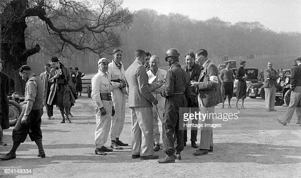 Motor racing meeting at Donington Park Leicestershire late 1930s Artist Bill BrunellPlace Donington Date 1936 or later