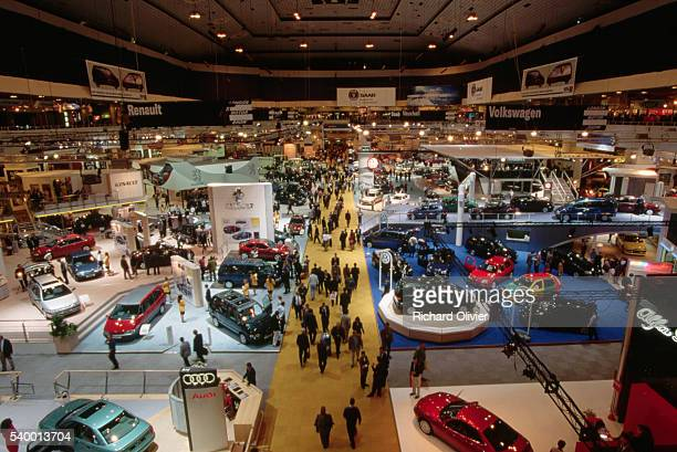 motor show at earls court, london - motor show stock pictures, royalty-free photos & images