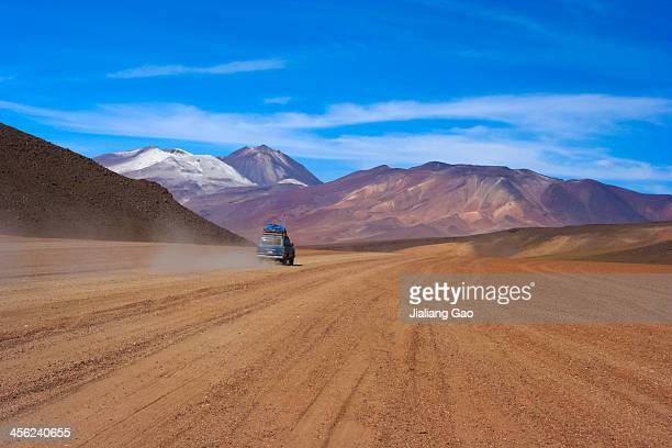 Motor touring at the Bolivian Andes