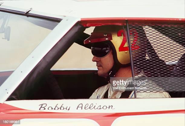 Motor Trend 500 NASCAR Riverside Bobby Allison sits in his Dodge Daytona