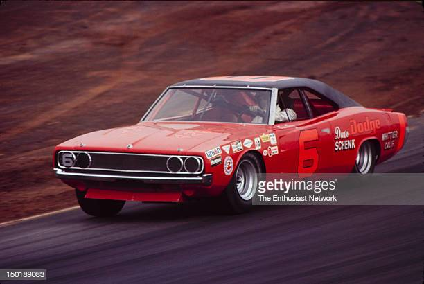 Motor Trend 500 NASCAR Riverside Sam Posey driving his Dodge Charger