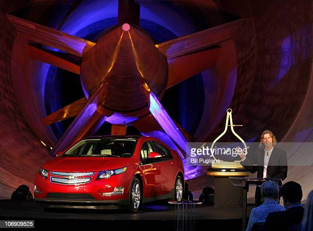 Motor Trend magazine editorinchief Angus MacKenzie names the Chevrolet Volt electric vehicle Motor Trend Car of the Year at the General Motors...
