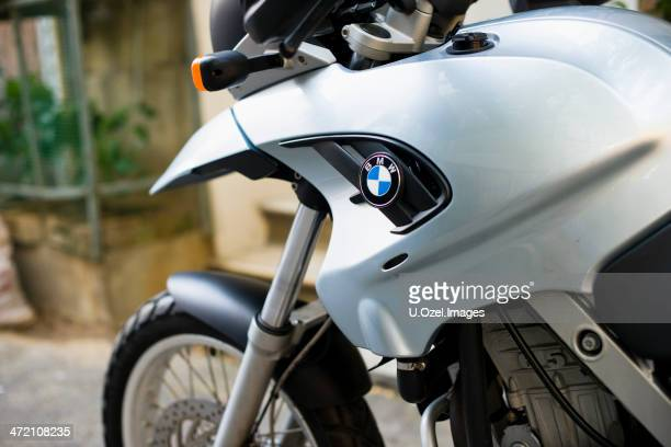 bmw f650gs motorbike - bmw stock pictures, royalty-free photos & images