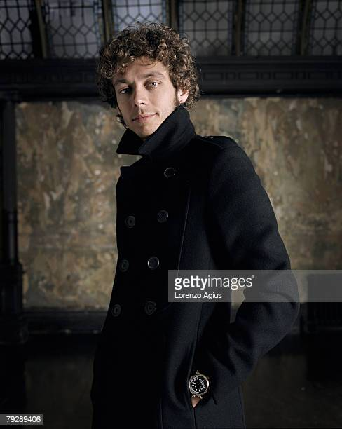 Motorbike rider Valentino Rossi poses for a portrait shoot for the Wall Street Journal in London on September 7 2007