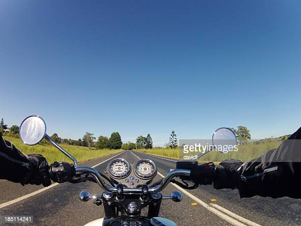 motorbike road - handlebar stock photos and pictures
