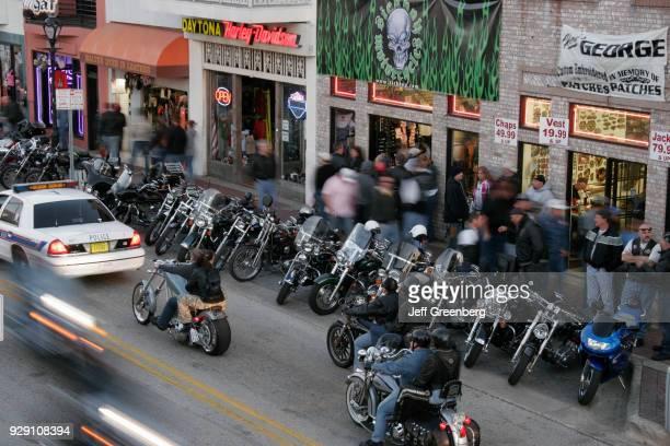 Motorbikes at Bike Week on Main Street Daytona Beach