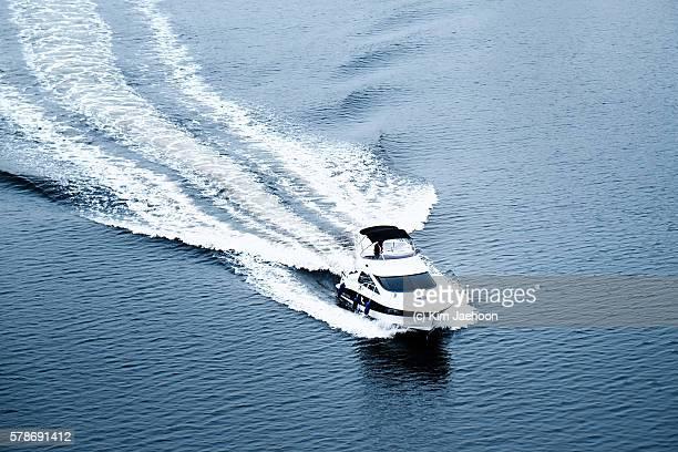 Motorboat on Ara Waterway.