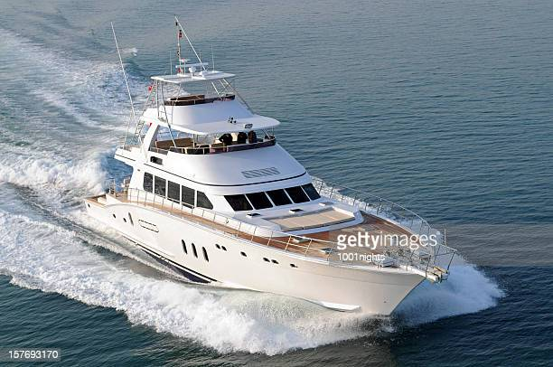 motorboat - luxury yacht stock pictures, royalty-free photos & images